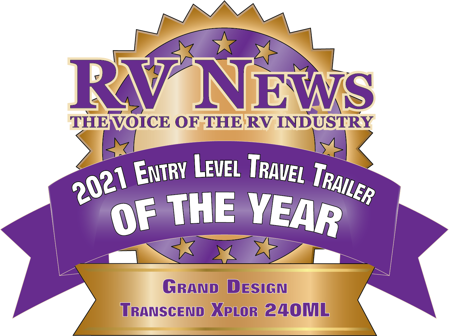 RV News 2021 Entry Level Travel Trailer of the Year TRANSCEND XPLOR.png