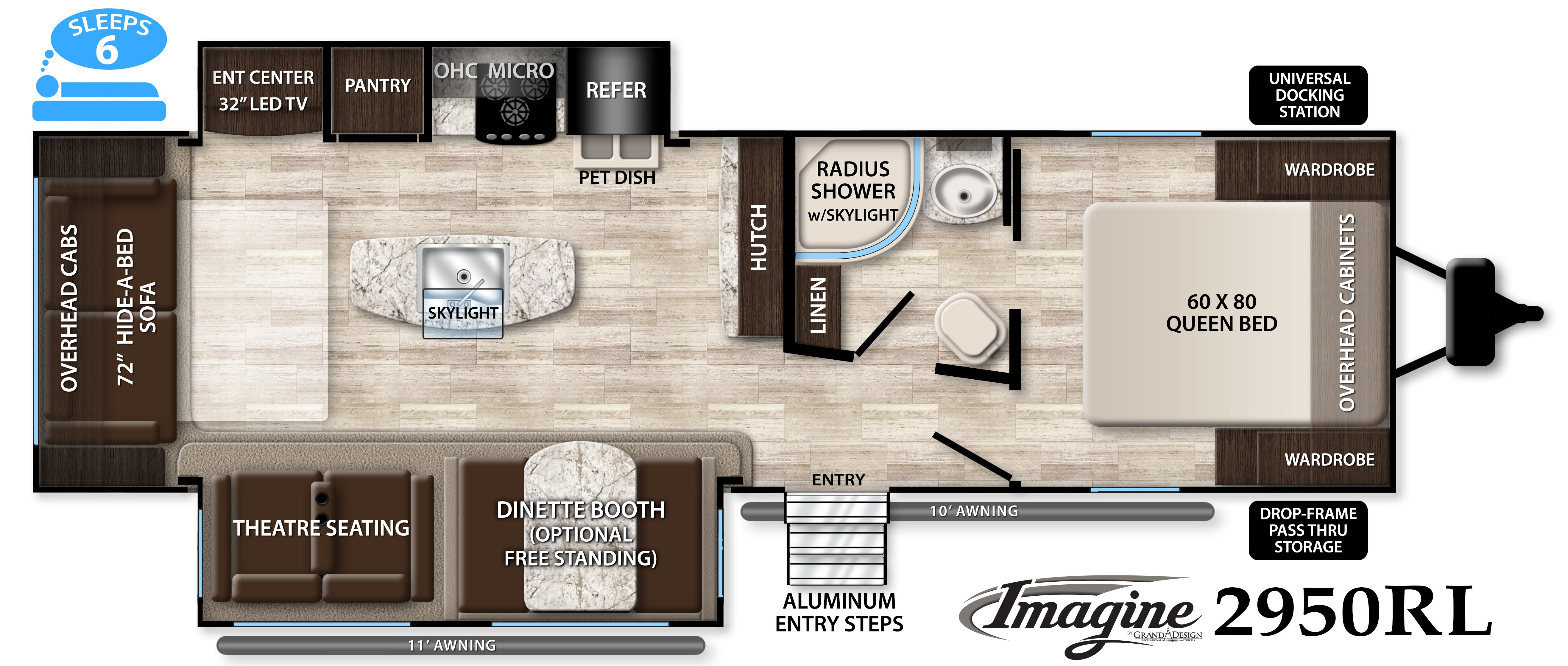 Media center imagine 2970rl grand design for Grand design floor plans