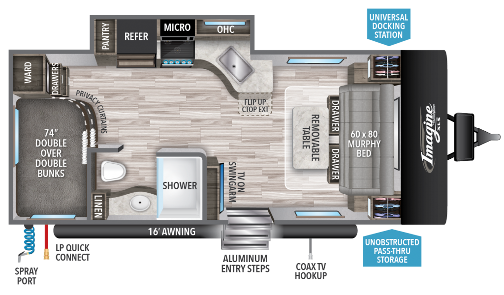 Imagine XLS 19BWE Floorplan