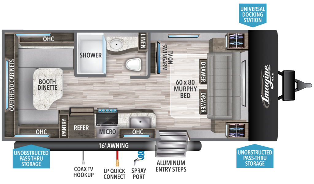 Imagine XLS 19RLE Floorplan