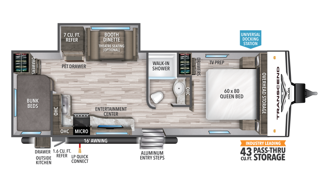 Transcend XPLOR 243BH Floorplan