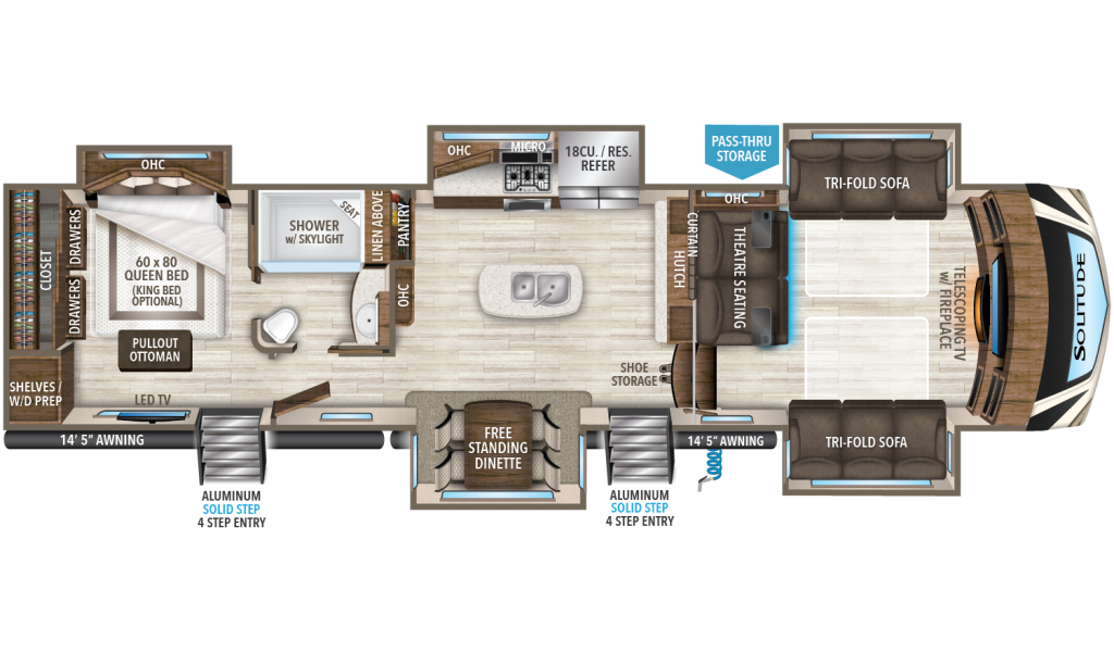 Solitude 379FLS Floorplan